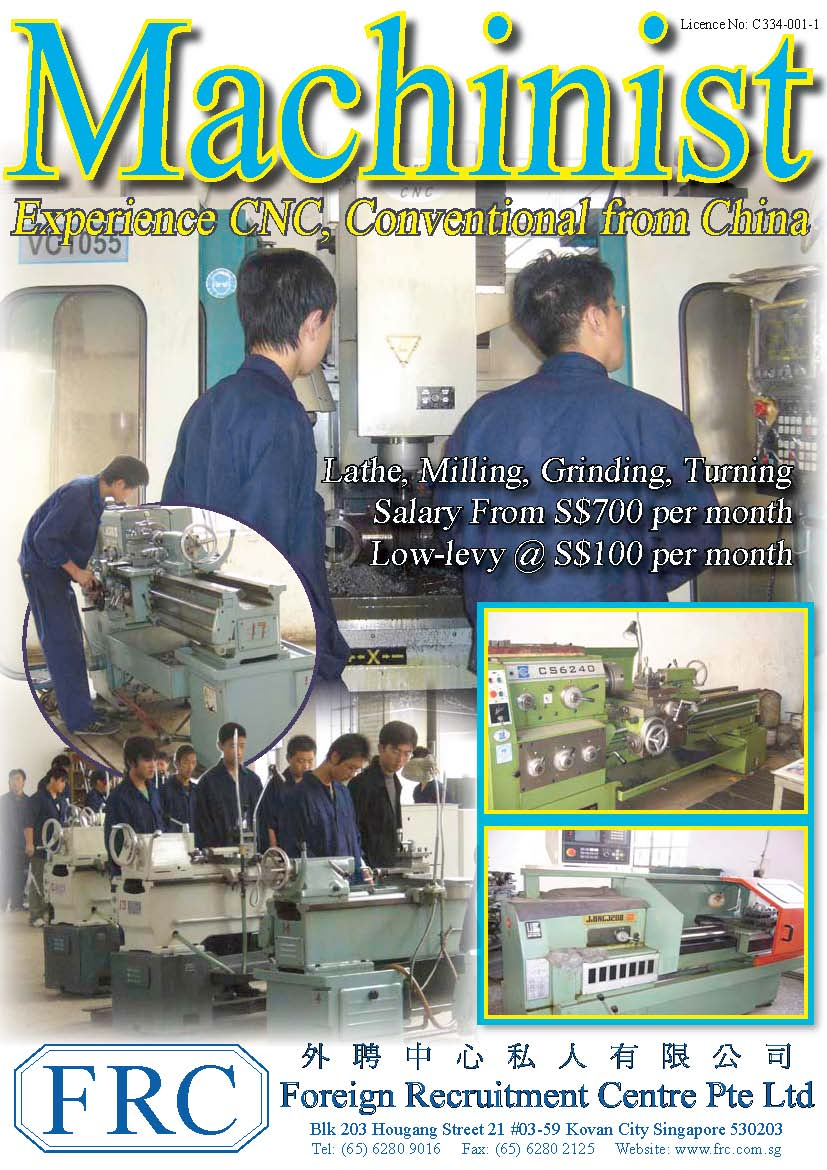 China workers Machinist – Salary for Cnc Machinist